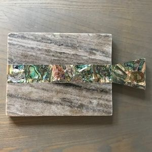 Anthropologie NWT Marble & Abalone Cutting Board